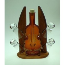Womar Glass Carafe 5 Piece Contrabass and Shot Glass Set WGS1003