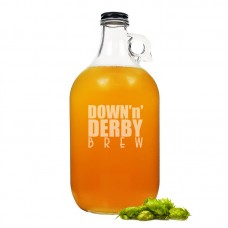Cathys Concepts Down 'n' Derby Glass 64 oz. Growler YCT3696