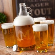 JDS Personalized Gifts 5 Piece Growler Set JMSI1056