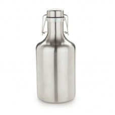 Viski Grizzly Flip Top Stainless Steel 64 Oz. Growler VSKI1058