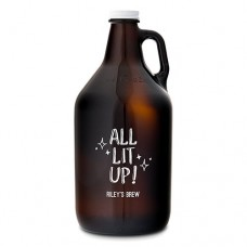 "Weddingstar ""All Lit Up!"" Glass Beer 64 oz. Growler WDSR1443"