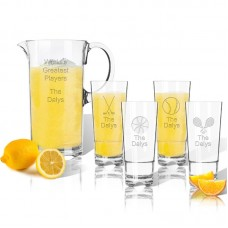 Carved Solutions Tritan Sports 5 Piece Beverage Serving Set WXH1703