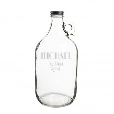 Cathys Concepts Personalized Fill Drink Repeat 64 Oz. Craft Beer Growler YCT4392