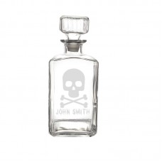 Cathys Concepts Personalized Skull and Crossbones 34 Oz Decanter YCT4446