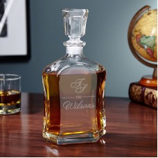 Home Wet Bar Sheridan Custom Monogrammed 23 oz. Decanter HWTB1394