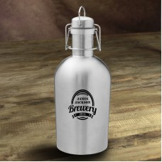 JDS Personalized Gifts Brewery Personalized 64 oz. Stainless Steel Growler JMSI2905