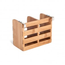 Rebrilliant Bamboo Flatware Caddy with Metal Clips REBR4844