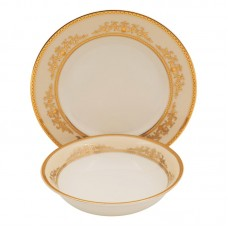 Shinepukur Ceramics USA, Inc. Caramel Ivory China 24 Piece Completer Set SHPK1038