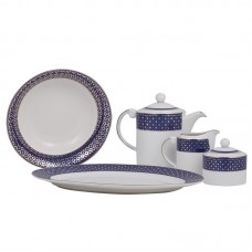 Shinepukur Ceramics USA, Inc. Empire Fine China Traditional Serving 5 Piece Dinnerware Set SHPK1114