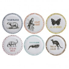Viv + Rae Dusty Animal and Saying Melamine Salad or Dessert Plate VVRE4322
